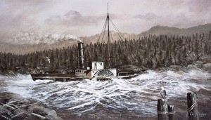 SS Beaver off the Sunshine Coast British Columbia 1836