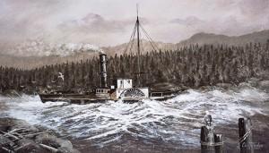 SS Beaver off the Sunshine Coast British Columbia 1836