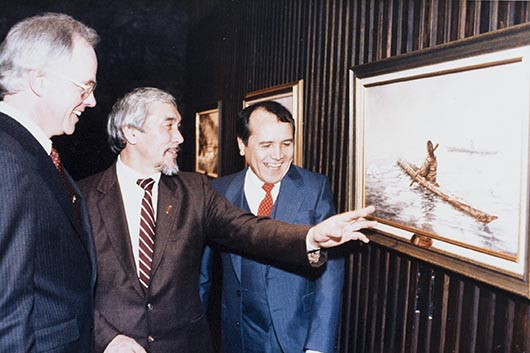 IMG_1199 Senator Willie Adams and Len Marchand-530