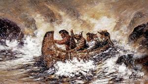 Early Settlers Simon Fraser and the Voyageur Canoe 1805